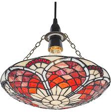 eye catching red amber tiffany stained glass glass pendant shade by happy homewares l 897084 5593542 1 jpg