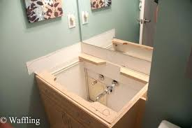 replace bathroom countertop with granite ba on quartz s installing large size of cabinet inch unique ideas integrated ti