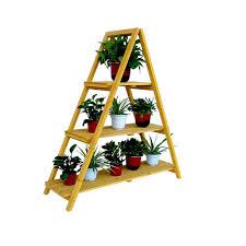 Wooden Ladder Display Stand Amazon Wooden Ladder Plant Stand Garden Outdoor 62