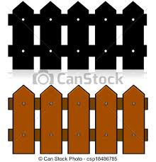 picket fence drawing. Picket Fence - Csp18486785 Drawing