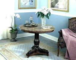 round entry tables nce foyer tables furniture enchanting round entry table with granite tops for