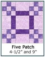 Free Quilt Block Patterns Library & ... Five Patch quilt block tutorial ... Adamdwight.com