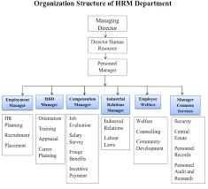 Human Resource Department Organizational Chart Structure Of Personnel Department Human Resource Department