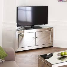 Corner Tv Unit Venetian Mirrored Corner Tv Cabinet To Fit Tvs Up To 44