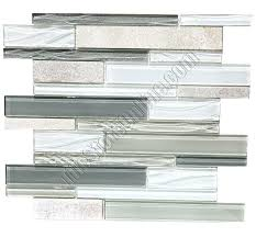 linear glass mosaic tile larger photo bliss midnight glass stone linear blend mosaic tile
