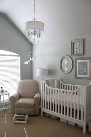 Kids Room: White Nursery Bedroom With Animal Themed - Nursery