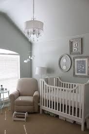 Kids Room: White Nursery Bedroom With Animal Themed - Nursery