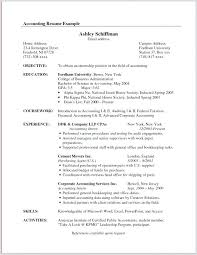 Cpa Resume Example Accounting Resume Samples Accountant Resume