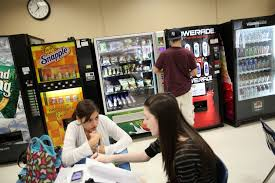 Facts About Vending Machines In Schools Beauteous Tough Sell For Healthy Fare In School Vending Machines The New