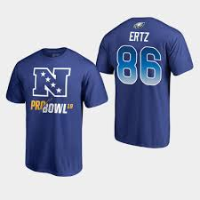 T-shirt Zach Pro Eagles Ertz Bowl 86 Blue - Nfc 2019
