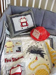 Fire Truck 6 Piece Crib Bedding Set by Patch Magic