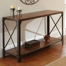 steve silver company winston sofa table in distressed