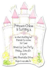 Charming Castle Invitations Princess Themed Birthday Invitation