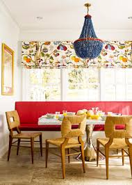 eclectic lighting. Photos Hgtv Red Bench And Blue Chandelier In Eclectic Dining Room Lighting L