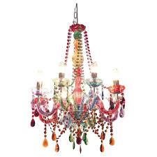 s multi colored chandelier small coloured gypsy