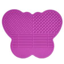 silicone makeup brush cleaner. amazon.com: # 1 silicone makeup brush cleaning mat -butterfly shape scrubber - portable beauty washing tool to extend the use of your make up and art cleaner o