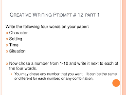 Writing Prompts For Creative Writing College Creative Writing