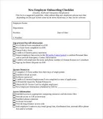 New Hire It Checklist New Employee Checklist Template 10 Free Pdf Documents Download