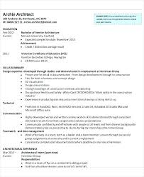 Top 8 Intern Architect Resume Samples In This File You Can Ref