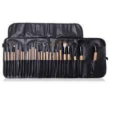 24pcs wooden makeup brush set