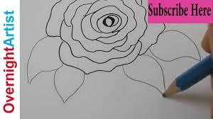 Art For Kids Kids Art Art For Kids Easy Rose Drawing Youtube