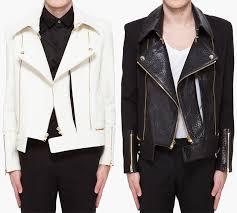 j white and black biker jackets