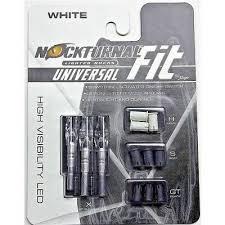 Rage Nockturnal Universal Fit Lighted Nocks White 3 Pack Nt