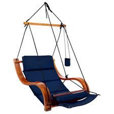 navy blue cloud 9 hanging chair plain fabric