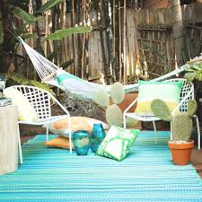 cancun turquoise moss green hammock lifestyle outdoor rugs made from recycled plastic mats dfohome and woven rug indoor area bamboo habitat polypropylene