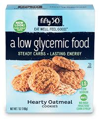 Low Glycemic Hearty Oatmeal Cookies - Fifty 50 Foods