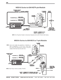 msd ignition wiring diagrams msd 6 series to gm 4 5 or 7 pin hei modules part 2
