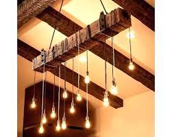 full size of rustic wood lighting wooden beam industrial chandelier i d light lamp restaurant bar fixture