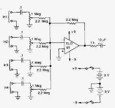 audio schematic to wiring diagram check for 3 mic mixer circuit enter image description here