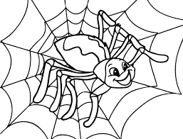 Small Picture Happy Spider Coloring Page Cute Spider Pinterest Spider