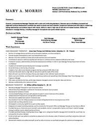 Massage Therapist Resume Custom 28 Free Massage Therapist Resume Templates