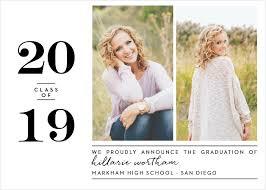 High School Graduation Announcement Senior Graduation Card Formal Rar Download