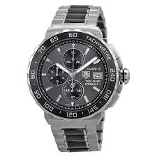 tag heuer tag heuer formula 1 anthracite dial stainless steel and tag heuer tag heuer formula 1 anthracite dial stainless steel and ceramic chronograph men s watch cau2010