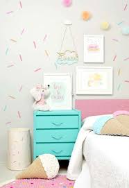sweet treat themed girl s room with washi tape wall decor