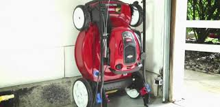 lawn mower garage storage. Toro SmartStow Lawn Mower With Mow Stow Technology And Garage Storage