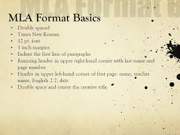 mla review night essay ppt video online  2 mla format