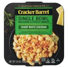 sharp white cheddar. cracker barrel single bowl mac \u0026 cheese white cheddar - 4oz sharp