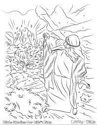 Small Picture Special Moses And The Burning Bush Coloring Pa 5994 Unknown