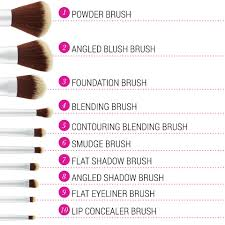plete makeup brush set plete names of makeup brushes and their uses ideas