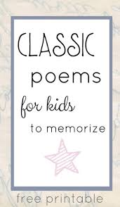 clic poems for kids to memorize perfect for families too