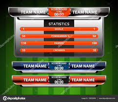 Scoreboard Template Soccer Scoreboard Template Stock Vector © Ijaydesign24 24 8