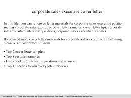 Sales Executive Cover Letter Examples Resume Letter Directory