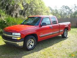 2002 Victory Red Chevrolet Silverado 1500 LS Extended Cab #545873 ...