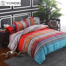 bohemian bedding sets 3 mandala duvet cover set flat sheet pillowcase twin full queen king size bedding set bed linens black white duvet cover blue and