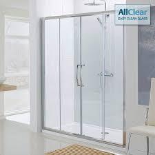 lakes classic semi frameless double slider shower door 1800mm