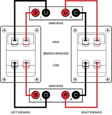 how to bi wire and bi amp stereo speakers complete instructions Bi Amp Wiring Diagram bi amp speaker connection v2 bi amping wiring diagram